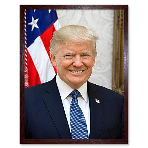 Craighead Portrait US President Donald Trump Photo Art Print Framed Poster Wall Decor 12x16 inch Porträt Präsident Fotografieren Wand Deko