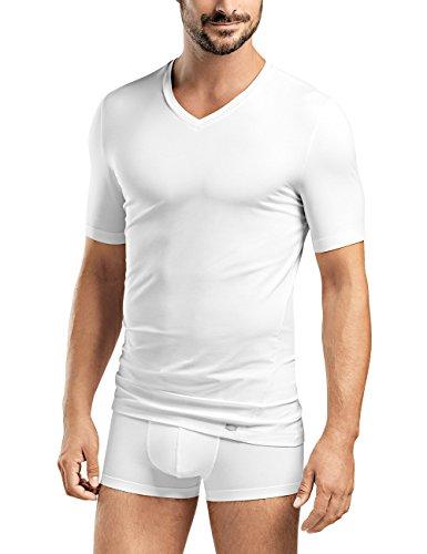 Hanro Herren Liam V 1/2 Arm T-Shirt, Weiß (White 0101), 46 (Herstellergröße: S)