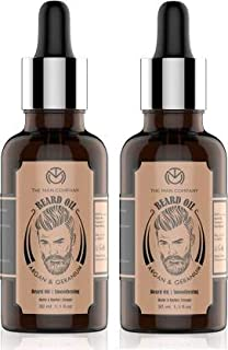 The Man Company Beard Growth Oil For Men | Argan and Geranium 100% Natural Oils | Nourishes, Smooth and Shiny Beard | Friz...