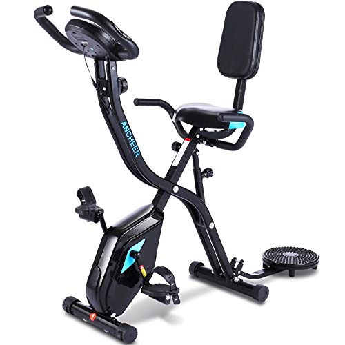 ANCHEER Heimtrainer Fahrrad F Bike, 3-in-1Fitness Klappbar...