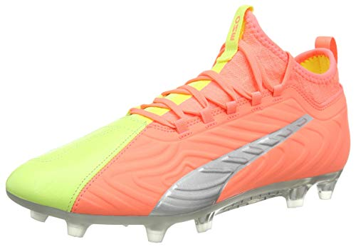 PUMA Men's ONE 20.3 OSG FG Football Boots, Nrgy Peach Fizzy Yellow Aged Silver, 43