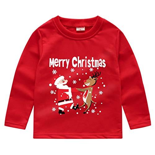 K-Youth para 1 a 5 años Ropa Bebe Niño Navidad Otoño Invierno Disfraz de Navideño Camiseta Manga Larga Bebe...