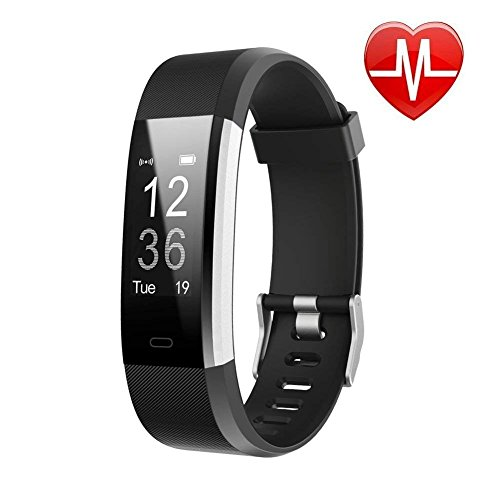 Lintelek Fitness Tracker with Heart Rate Monitor, Activity Tracker with Connected GPS,...