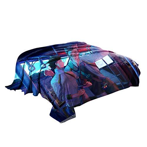 Zhongkaihua Haikyuu Manta Anime Haikyuu Impreso franela polar manta suave manta de viaje/manta de sofá/manta de manta para sofá cama sofá coche