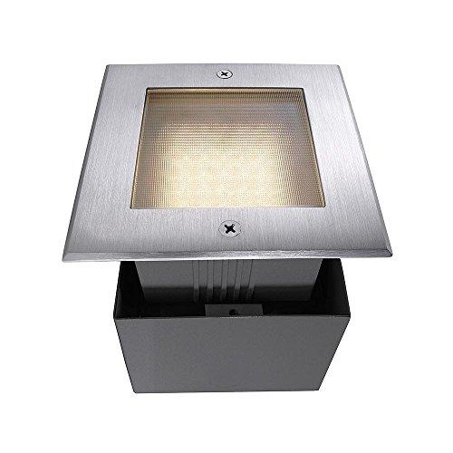 Spot LED encastrable au sol Square II Spot extérieur carré 220-240 V AC/50-60 Hz, 2,2 W, acier inoxydable, 120°, IP67, 3000 Classe d'efficacité énergétique : A+