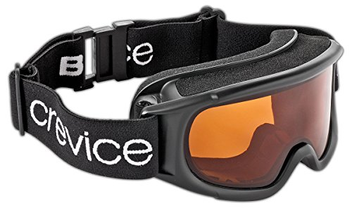 Black Crevice Damen Skibrille, schwarz, One size