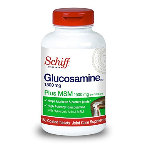 Schiff Glucosamine 1500mg Plus MSM and Hyaluronic Acid, 150 Tablets - Joint Supplement (Pack of 5)