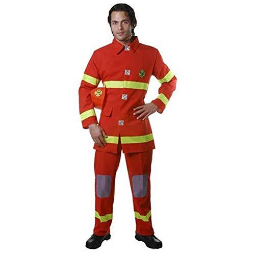 Dress Up America Costume de chasseur de feu rouge adulte,Small (Taille 36-39 Pouces, Hauteur 5'3\