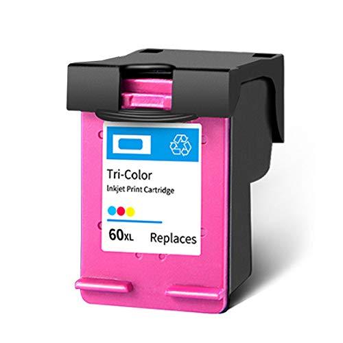 PPKB Cartucho de tinta remanufacturado 60XL, de repuesto negro y color para HP 60XL para usar con impresora F4280 2410 C4780 4480 ENVY 100 110 111 114 120 121