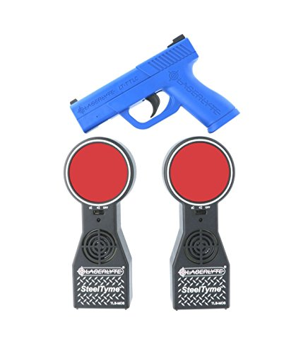 LaserLyte trainer target Steel Tyme with PLINKING STEEL sound Laser Trainer Compact Size GLOCK 43 familiar size weight and feel RESETTING TRIGGER training with this system will make you better