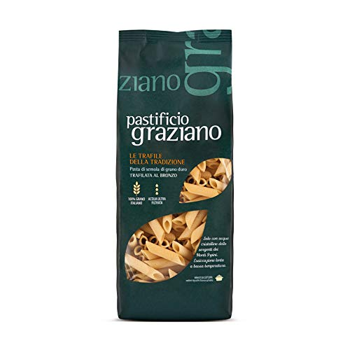 Pastificio Graziano Pasta Penne lisce – Trafila al bronzo – 100% Grano Italiano - 500gr.
