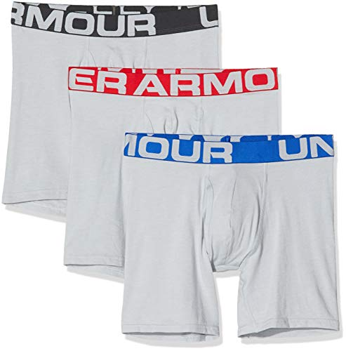Under Armour 3 Pack Charged Cotton Sports Underwear Boxer Homme, Gris, FR : L (Taille Fabricant : LG)