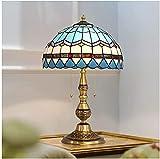 okuya Lámparas de sala de estar Lámpara de mesa de estilo vintage y lámpara de lámpara Luz de lámpara de pie con sombra Lámpara de cristal Manchas Sombras Lámpara de escritorio Dormitorio Dormitorio D