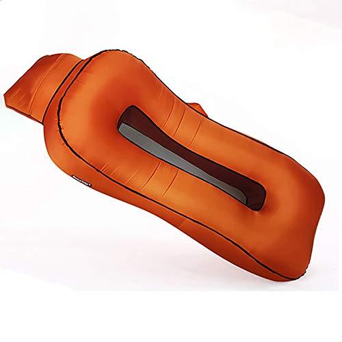 RTOFO Chaise De Camping-Chair Ergonomique Chaise Inclinable Gonflable Chaise De Camping Air Canapé Hamac avec des Oreillers Imperméable Et Étanche Parc Plage sans Pompe