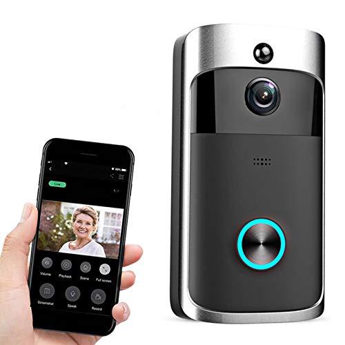 Roeam Timbre de Video inalámbrico,Timbre Exterior Impermeable,Timbre WiFi Vídeo HD 720P con Lente de 166 Grados y Almacenamiento en la Nube Compatible,Compatible con iOS y Android
