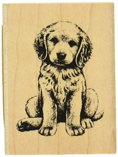 Inkadinkado Puppy Dog Rubber Mounted Stamp for Card Making and Scrapbooking, 1pc, 1.25''L X 1.5''W