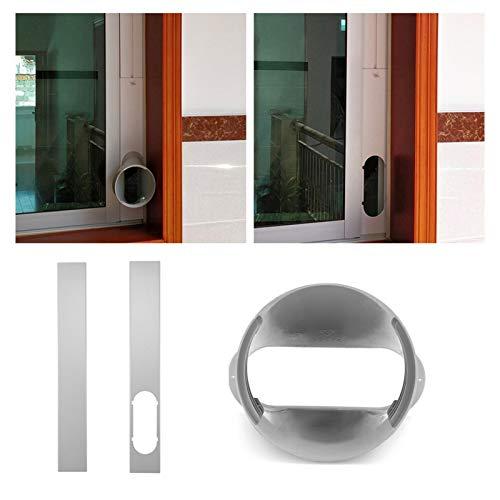 Klimagerät Fensterabdichtung klimaanlage Fensterabdichtung Window Vent Adapter Window Slide Kit Platte Oder 1 Stück 43,30 Zoll / 15 Cm Fensteradapter Hands Tool (Fensteradapter+Window Kit Plate)