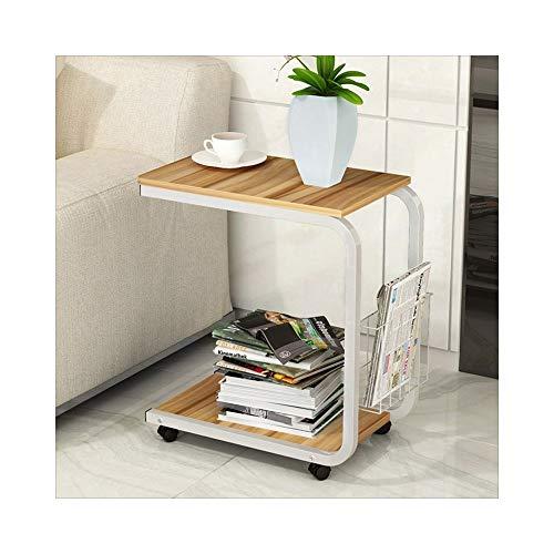 AJZXHE Table de café mobile simple table de chevet mini canapé moderne Bureau simple (Couleur : Apple wood color)