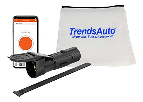 Curt 51180 Echo Mobile Electric Trailer Brake Controller with Bluetooth-Enabled Smartphone Connection Proportional Includes Trends Auto Carrying Case Bundle