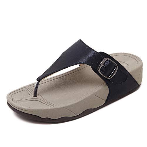 AWSAYS 2019 Les Sandales Et Les Pantoufles pour Femmes Bouclent des Chaussures pour Femmes éPaisses Et à Talons