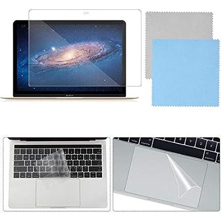 Kit de protección Completa Compatible con MacBook Pro de 13 con Barra táctil, Funda para Teclado SourceTon, Protector de Pantalla, con paños de ...