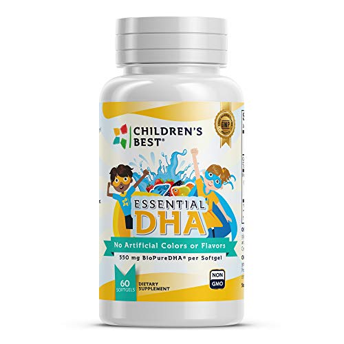 Children's Best - Essential DHA for Kids - Fish Oil Concentrate - Non-GMO - GMP Certified - 60 Soft Gels