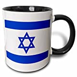 3dRose Israeli flag Mug, 11 oz, Black