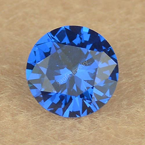 WJZB Venta 3~12mm 119# Sea Blue Sapphir-e Gemas sintéticas Espinela Forma Redonda Corte Lab Creado Espinela Piedra Suelta para Accesorio de joyería