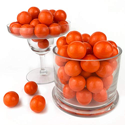 Color It Candy Orange 1 inch Gumballs 2 Lb Bag - Perfect For Table Centerpieces, Weddings, Birthdays, Candy Buffets, & Party Favors.