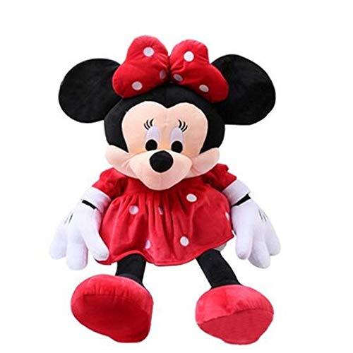 29 cm Mickey Mouse y Minnie Juguetes de Peluche de Disney for el Regalo de los niños Suave Relleno Lindo Animales muñecas Almohada (Color : Red)
