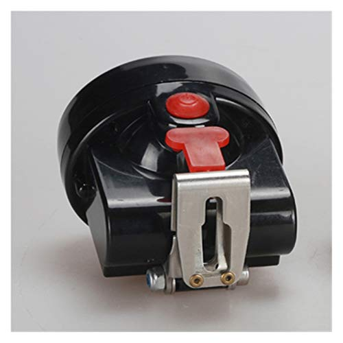 YSVSPRF Linterna Frontal Lámpara de minería del minero del minero LED Lámpara de Casco de Mineral (Emitting Color : with Red Button, Plug Type : 1)