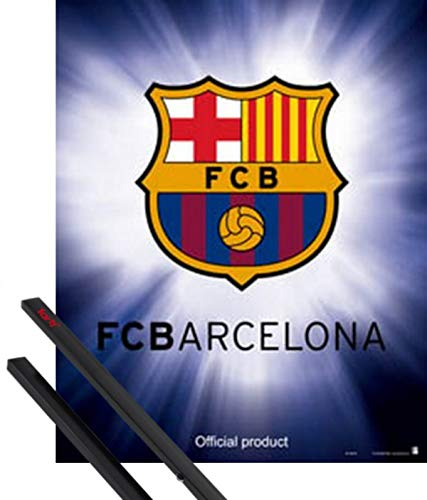 1art1 Fútbol Póster Mini (50x40 cm) FC Barcelona Escudo Y 1 Lote...