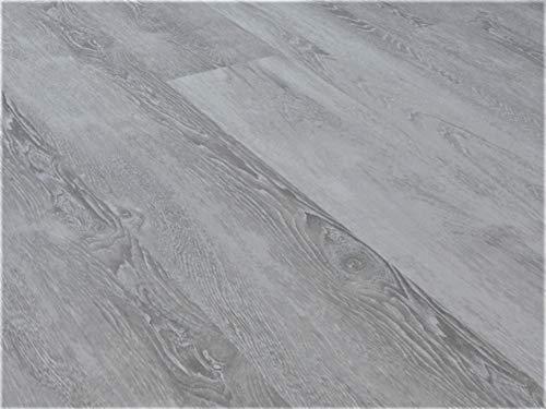 Schnell | Mineral SPC Vinylboden Basic Designboden Holzoptik Dielenformat Klicksystem Stärke 3,5mm Wasserresistent Rigid Floor | 1 Paket = 3,36m² | Eiche Royal Grau