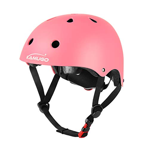 Best Deals! KAMUGO Kids Adjustable Helmet, Suitable for Toddler Kids Ages 3-8 Boys Girls, Multi-Spor...