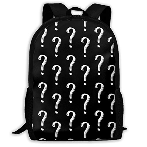 ADGBag Question Mark Fashion Outdoor Shoulders Bag Durable Travel Camping for Kids Backpacks Shoulder Bag Book Scholl Travel Backpack Kinderrucksack Rucksack
