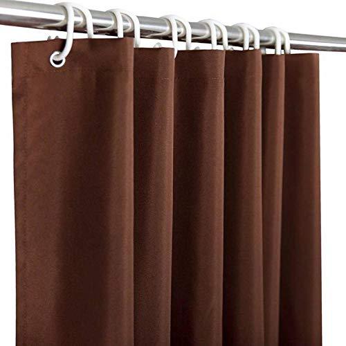 Pure Color Duschvorhang, Hotel Home Wasserdichter Badvorhang für Badezimmer, Polyester, dick, 90 x 180 cm, Kaffeebraun