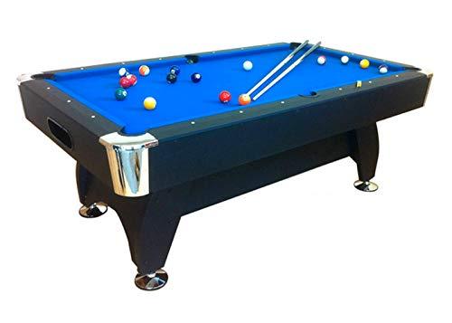 Billardtisch 7 ft Model Blue Sea Pool Billard Tisch blau mit Zubehör robust 145 kg