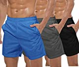 COOFANDY Men's 3 Pack Gym Workout Shorts Mesh Weightlifting Squatting Pants Training Bodybuilding Jogger with...