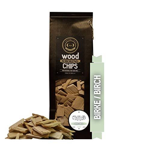 Grillgold Räucherchips Wood Smoking Chips, räuchen von Fisch, Fleisch und Gemüse auch für BBQ und Grill geeignet, Wiederverschliessbaren-Beutel befüllt mit 1,75 Liter Birke