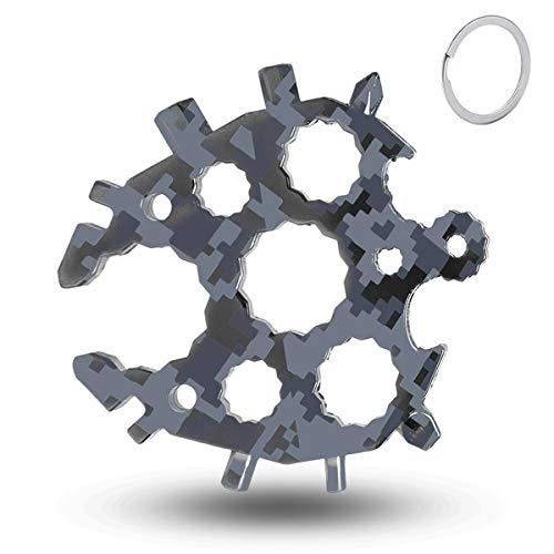 20-in-1 Schneeflocke Multi-Tool, Werkzeug Geschenke für Männer Flaschenöffner Ringschlüssel, Edelstahl Fahrrad Multifunktionswerkzeug, adventskalender männer 2021, für Outdoor-Abent-Gadgets
