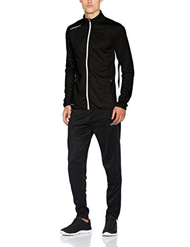 uhlsport Herren Essential Classic Anzug Trainingsanzug, schwarz/Weiß, L