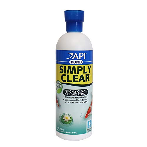 API POND SIMPLY CLEAR Pond Water Clarifier 16-Ounce Bottle (248B)