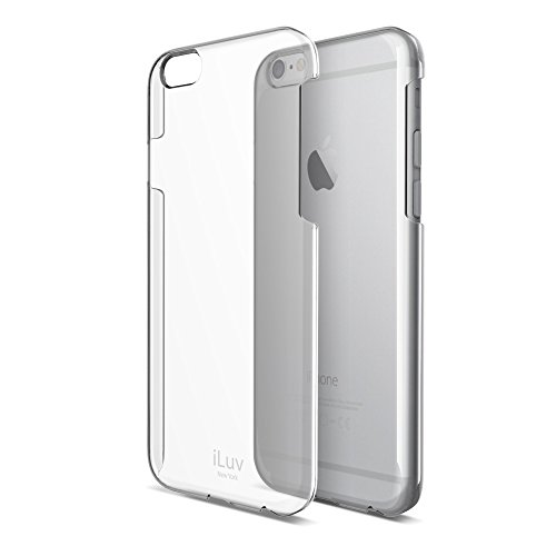 iLuv Clear Lightweight Hardshell Protective Case with Raised Lip On Edge, Form-Fitting Construction, UV Coating, and Access to All Ports and Controls for iPhone 6 Plus / 6s Plus