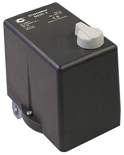 ELMAG Druckschalter CONDOR MDR 3 EA/11bar, 400 Volt (10-16 A), Grau, Schwarz