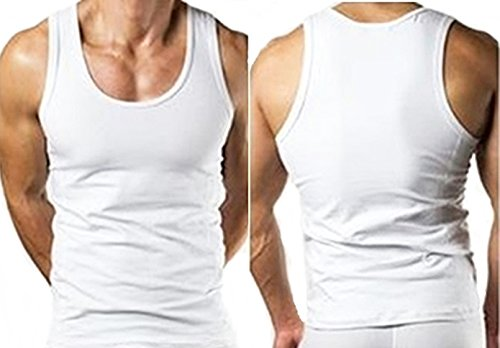Megastore 247 - T-Shirt - Uomo Bianco Bianco
