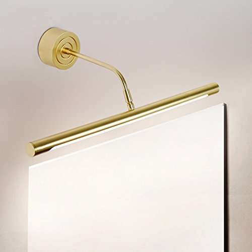 XIAOPING LED Specchio fari vespaio Lampada specchietti fari Trucco Lampada Specchio Bagno Lampada fendinebbia Impermeabile (Color : White Light, Size : 11w/61.5cm)