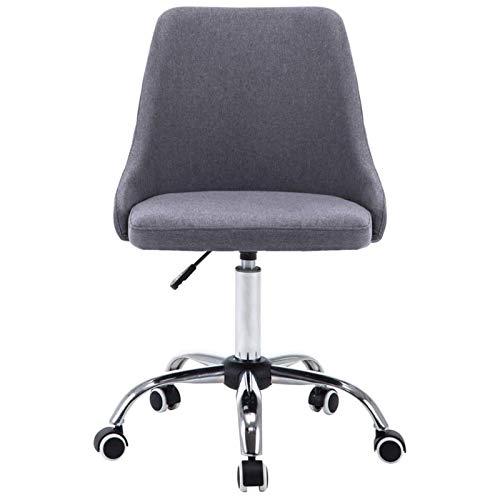 Heqianqian Silla de oficina de la computadora 2pcs 360-grados rotativa silla de oficina sillas de escritorio
