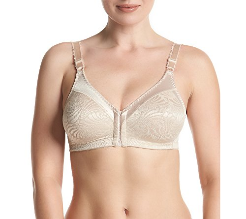Bali womens Double Support Front Close Wirefree Bra, Soft Taupe, 40DDD Bali Style Hook Clasp