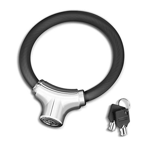 welltop Fahrradschloss mit Schlüssel, Fahrradkettenschloss Anti-Diebstahl Kettenschloss für Fahrrad