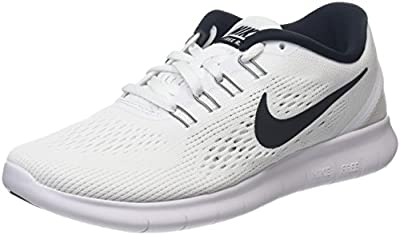 Nike Women's Free RN/Running/Training Shoes (6) White/Black